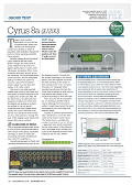 CYRUS 8a - Hi-Fi News Highly Commended