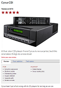 CYRUS CDi - What Hi-Fi - 5 Stars review