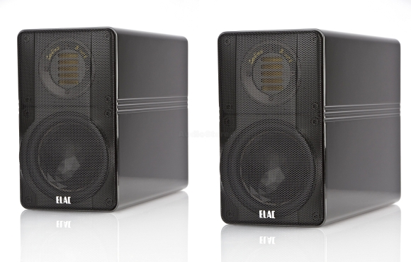 ELAC 310 Indies Black back and side view