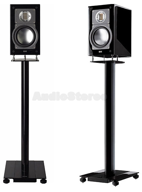 ELAC BS 203 A black high gloss finish on LS 70 stand - pair