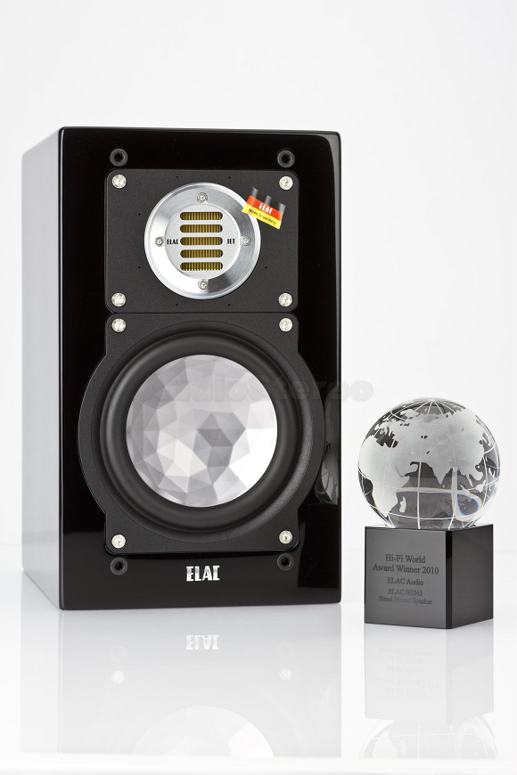ELAC BS 244 titan shadow and BS 243 black high gloss