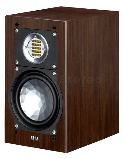 ELAC BS 243 mocha veneer finish