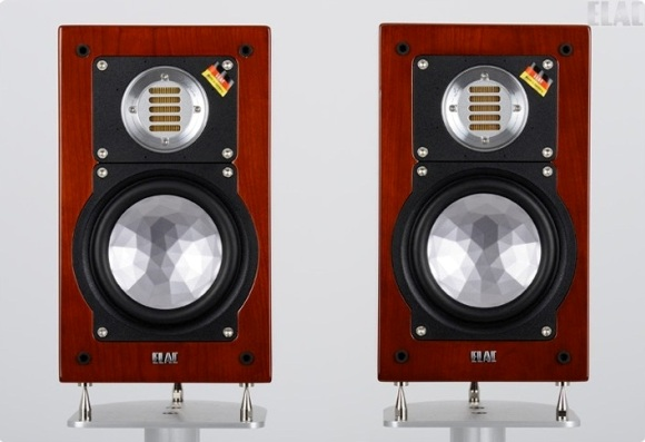 ELAC BS 243 LIMITED EDITION cherry veneer high gloss finish - pair front view