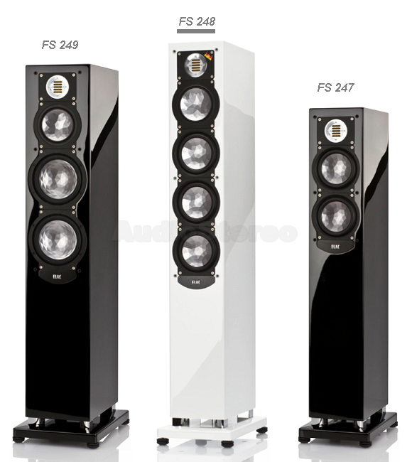 ELAC FS 249 - FS 248 white hg - FS 247 group view