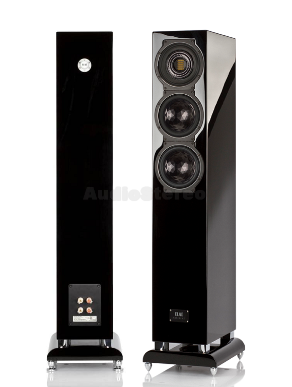 ELAC FS 507 VX-JET black high gloss finish back and side view