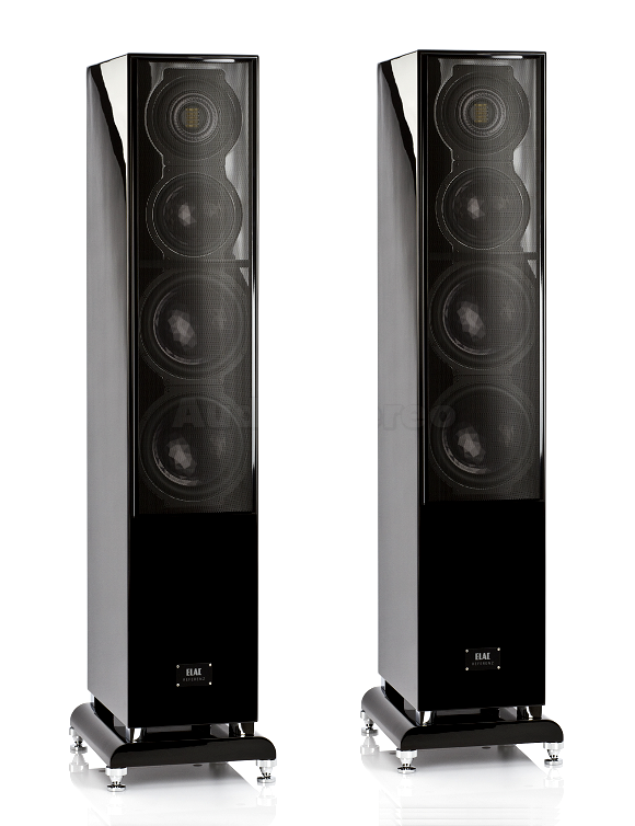 ELAC FS 509 VX-JET black high gloss finish with grilles