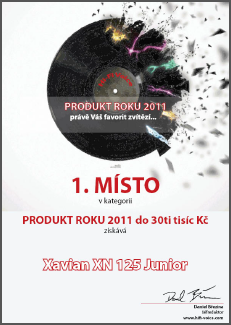 XAVIAN XN 125 Junior - Hi-Fi Voice (Czech) Product of the Year 2011